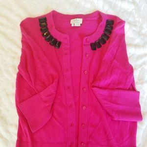 Kate Spade pink embellished cardigan